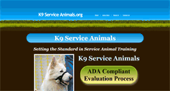 Preview of k9serviceanimals.org