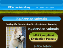 Tablet Preview of k9serviceanimals.org